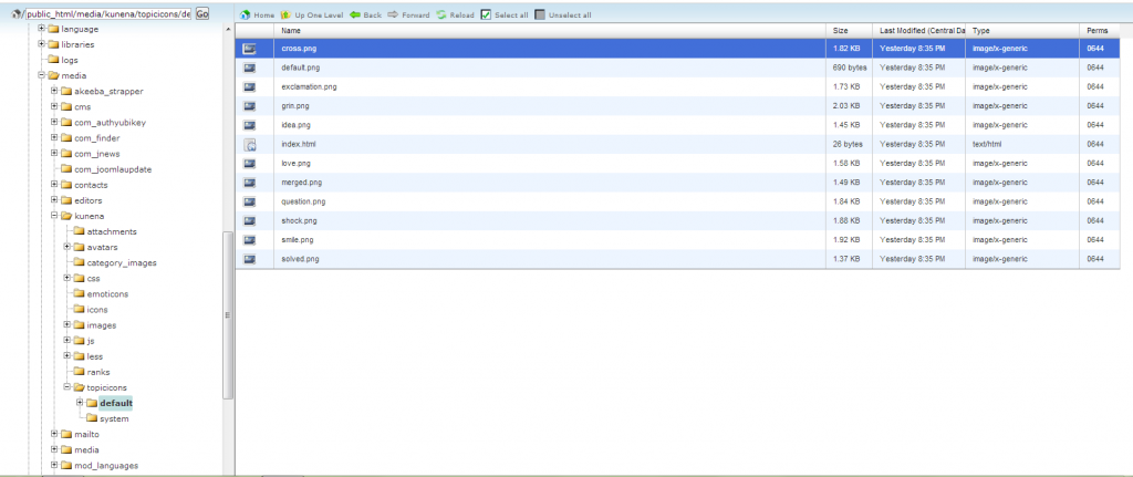 Google Chrome fails to display topic icons - Forum - Kunena
