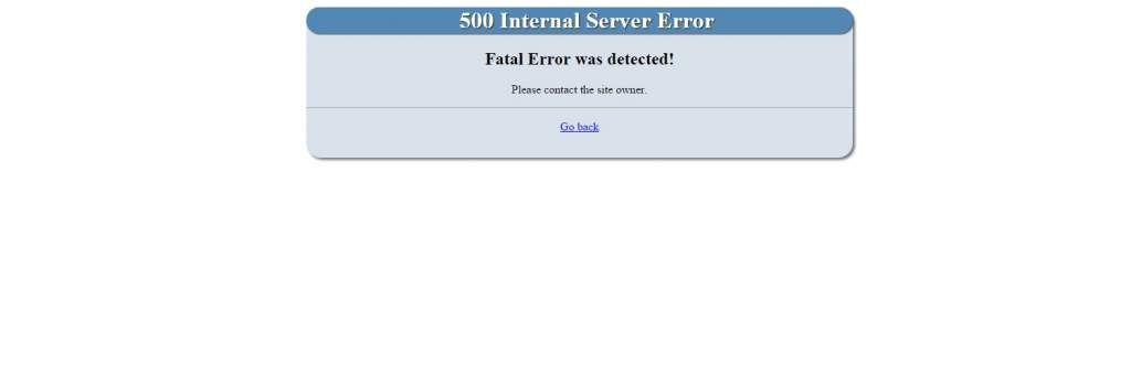 Ebay links: 500 Internal Server error [SOLVED] - Forum